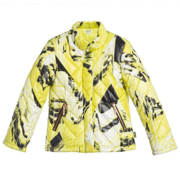KENZO Girls Lime Green 'Monsters' Jacket Product