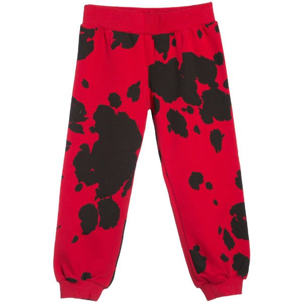 MOSCHINO KID-TEEN Red Pony Print Tracksuit Trouser