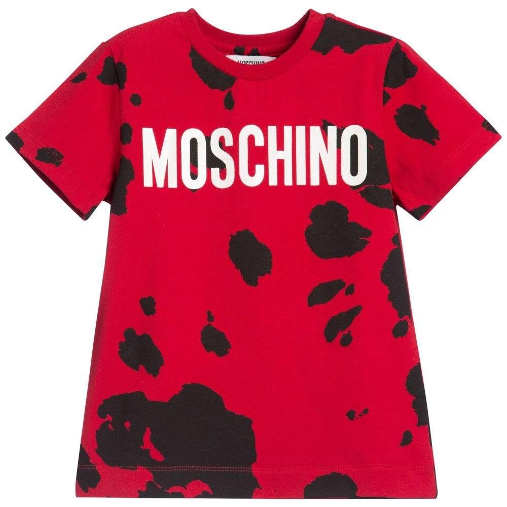 MOSCHINO KID-TEEN Red Pony Print T-shirt