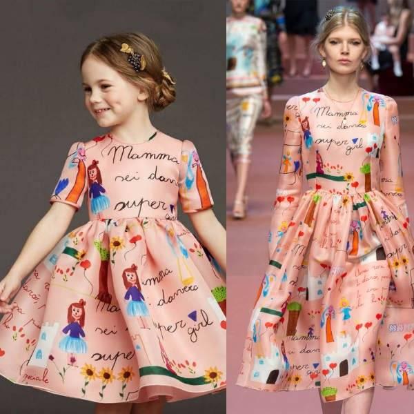 Dolce Amp Gabbana Super Mom Hand Illustrated Dress Dashin