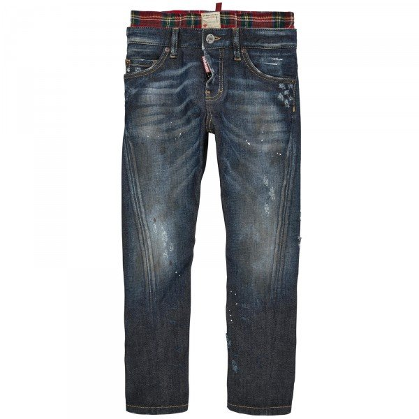 dsquared2 boys skinny fit distressed jeans