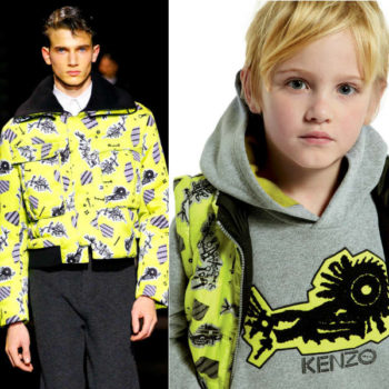 Kenzo Mini Me Yellow Print Jacket