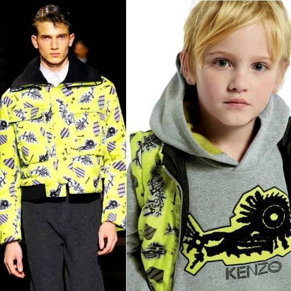 Kenzo Mini Me Yellow Print Jacket