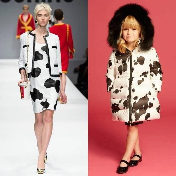 Moschino White & Black Girls Mini Me Pony Look