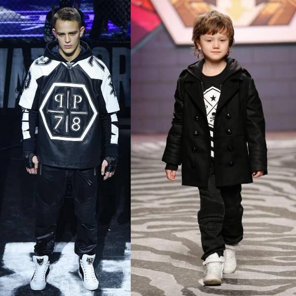 Phillip Plein Boys Black & White Logo Shirt Fall Winter 2015