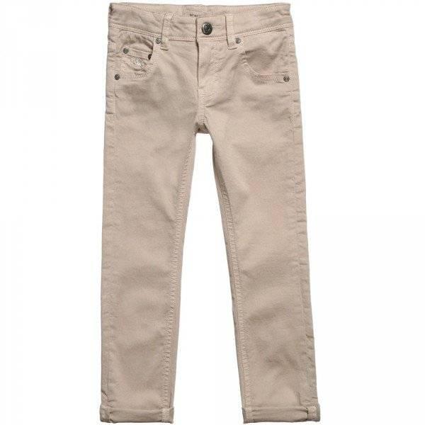 BURBERRY Boys Beige Slim-Fit Trousers