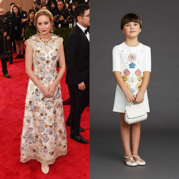 Brie Larson Embellished Dolce Gabbana Dress 2015 Met Gala