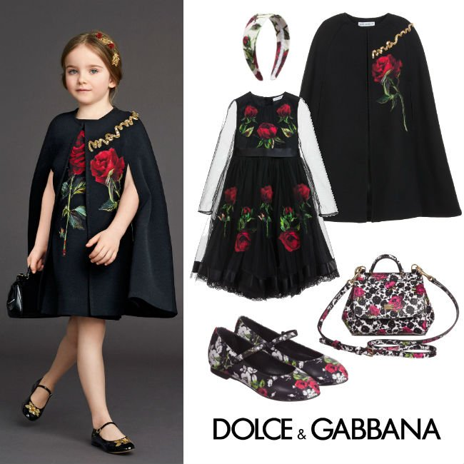 Dolce Gabbana Girls Rose Holiday Dress Look