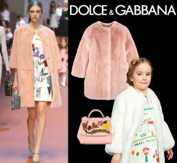 Dolce & Gabbana Pink Fur Coat