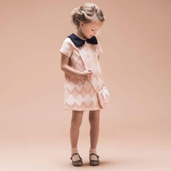 Hucklebones London Pink Harlequin Shift Dress