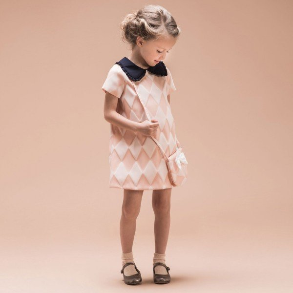 Hucklebones London Pink Harlequin Shift Dress
