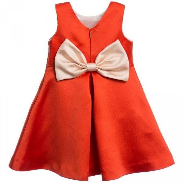 HUCKLEBONES LONDON Red Giant Bow Bodice Dress Back
