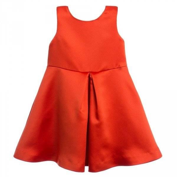 HUCKLEBONES LONDON Red Giant Bow Bodice Dress