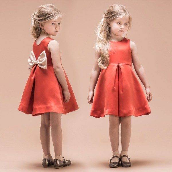 HUCKLEBONES LONDON Red Giant Bow Bodice Dress
