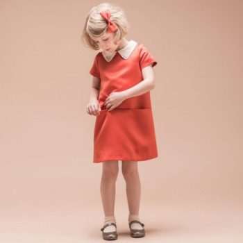 Hucklebones London Red Satin Swarovski Shift Dress