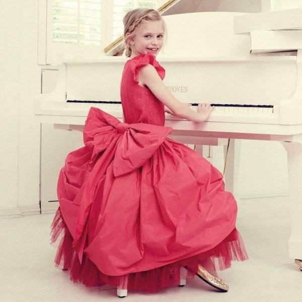 JUNIOR GAULTIER Bright Pink Taffeta & Tulle Net Dress & Bow