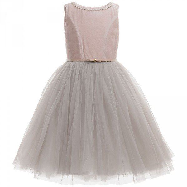 MONNALISA CHIC Dusky Pink Tulle Couture Dress