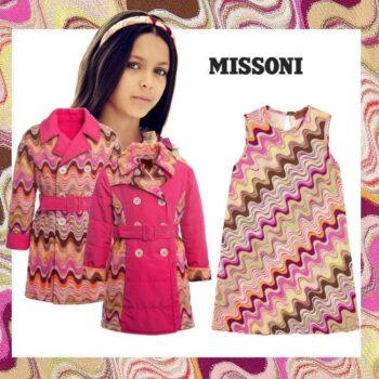 Missoni Girls Pink & Swirl Knit Dress & Reversible Coat