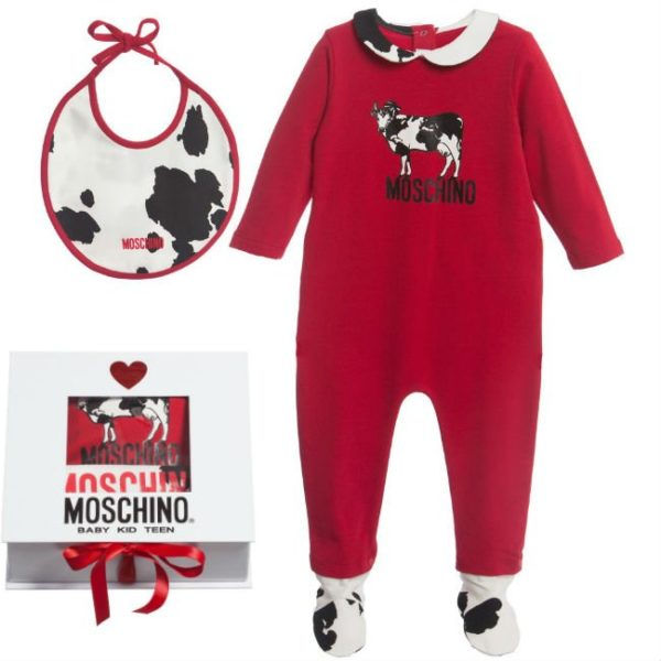 Moschino Red Cow Print Gift Set