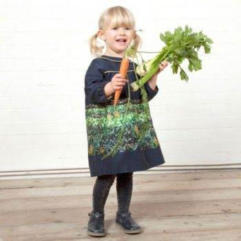 POPPY Navy Blue 'Jane' Harvest Organic Cotton Dress
