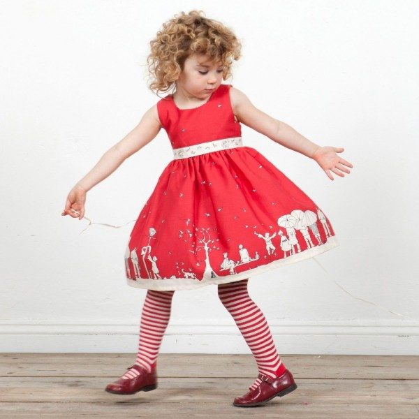 POPPY Red Cotton 'Martha' Dress