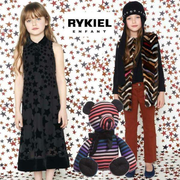 Sonia Rykiel Enfant Girls Striped Fur Jacket