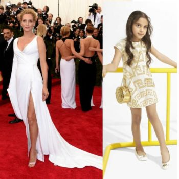 UMA THURMAN in Atelier Versace Met Gala 2015 MIni Me Dress