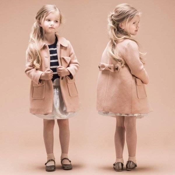 Hucklebones London Girls Blush Pink Wool Coat