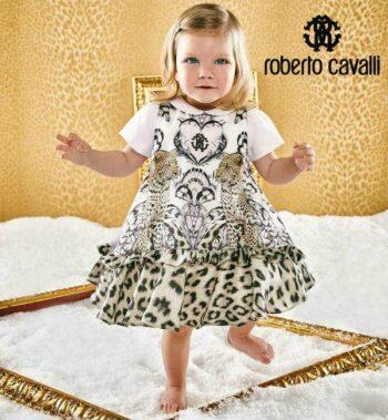 Roberto Cavalli Baby Girl Leopard Dress
