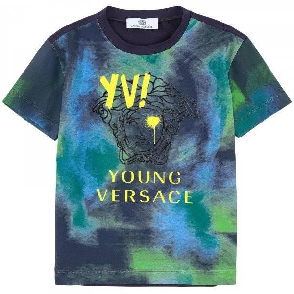 Young Versace Green Wash Tshirt