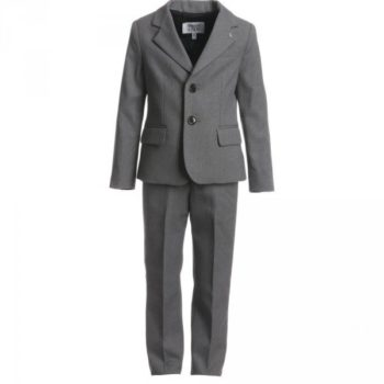 ARMANI JUNIOR Boys Grey Formal Wool Suit