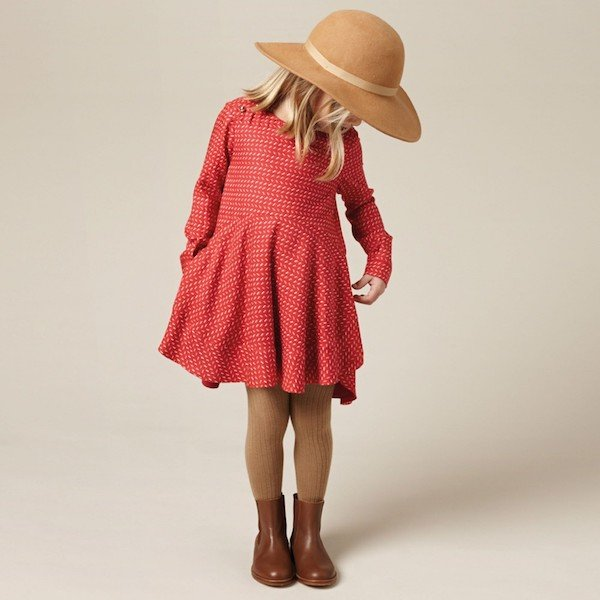 CHLOE-Brick-Red-Viscose-Dress-