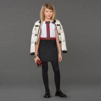 DSQUARED2 Girls White & Black Down Padded Jacket