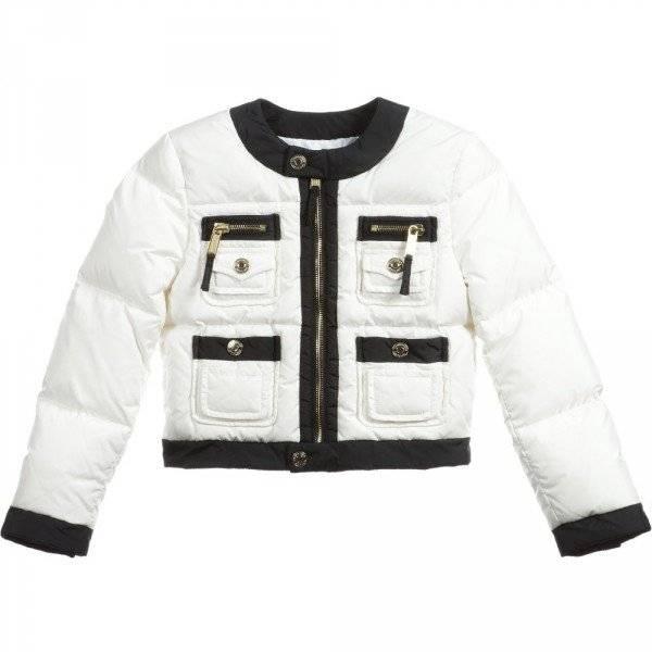 DSQUARED2 Girls White & Black Down Padded Jacket