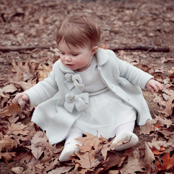 Il Gufo Baby Girl Light Grey Wool Coat
