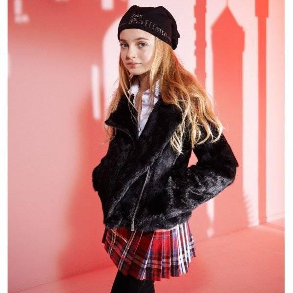 e2d5d646abc9ec JOHN GALLIANO Girls Red Tartan Kilt Skirt | Dashin Fashion