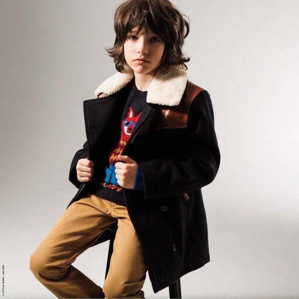 Little Marc Jacobs Woollen Reefer Coat Look