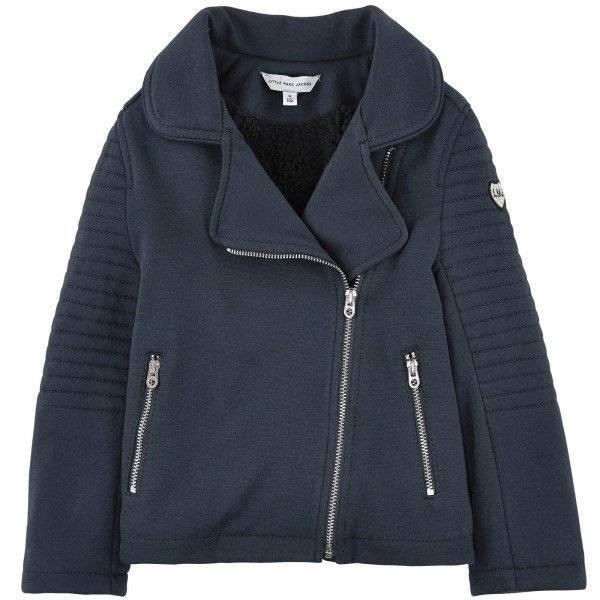 Little Marc Jacobs Girls Milano Jersey Biker Jacket