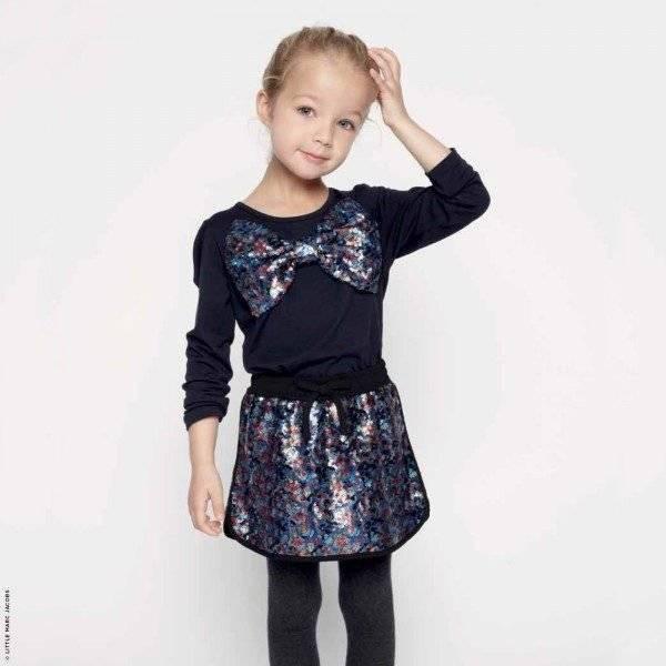 Little Marc Jacobs Sequined Bow Mini Me Shirt & Skirt