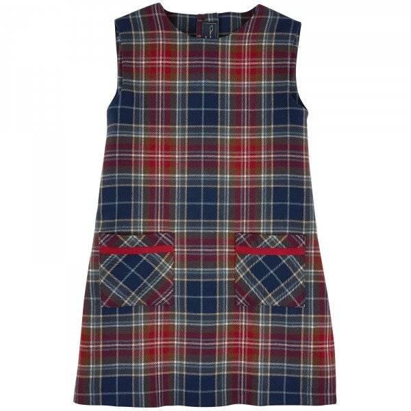 Osacr de la Renta Girls Checked Woollen Dress