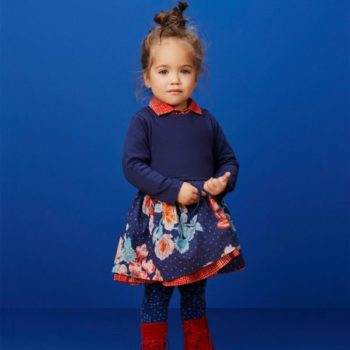 Oilily Baby Girl Floral Dress & Sweater
