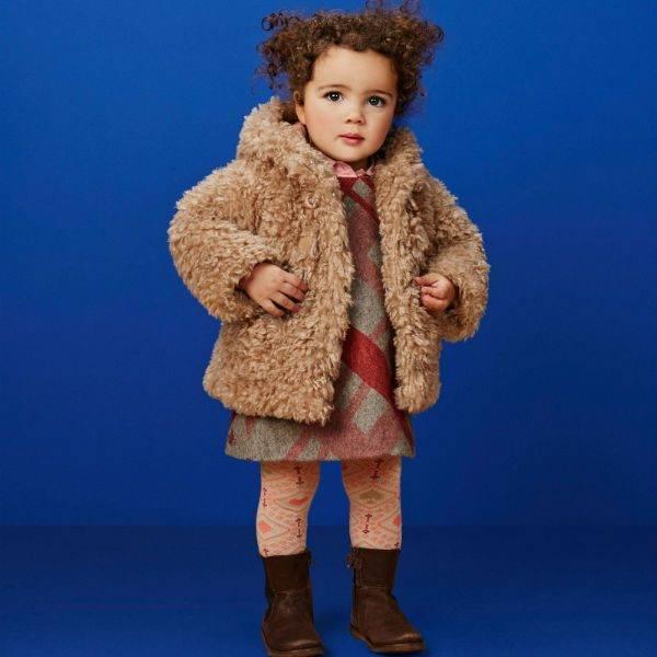 Oilily Baby Girl Teddy Bear Faux Fur Coat, Fur Coat For Baby Girl