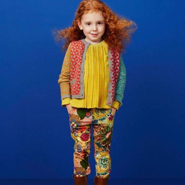 Oilily Girls KATJE Cardigan & Velvet Floral Pants