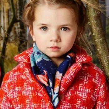 Oilily Red Wool Girl Celine Jacket Look