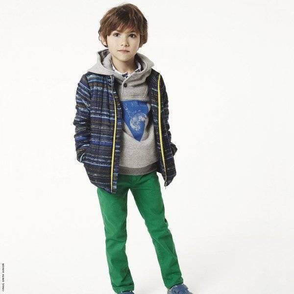 Paul Smith Junior Blue Graphic Coat & Green Pants