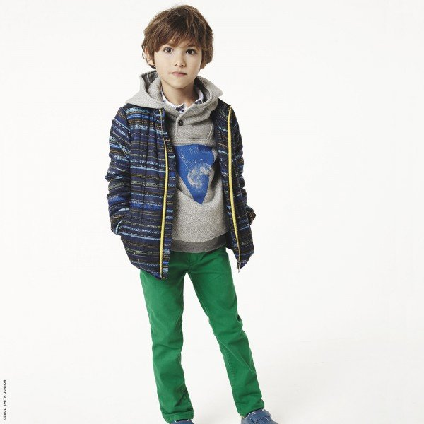 Paul Smith Junior Blue Graphic Coat & Green Pants