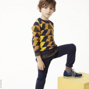 Paul Smith Junior Boys Mini Me Multi Color Graphic Sweater