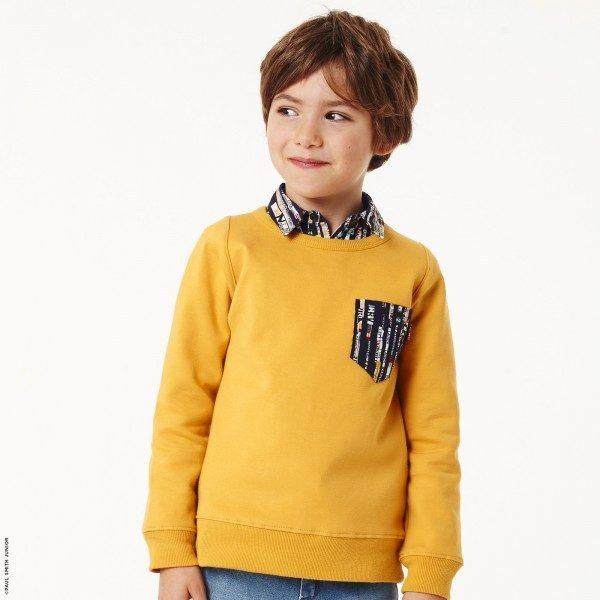 Paul Smith Junior Boys Yellow Sweatshirt with Graphic Shirt