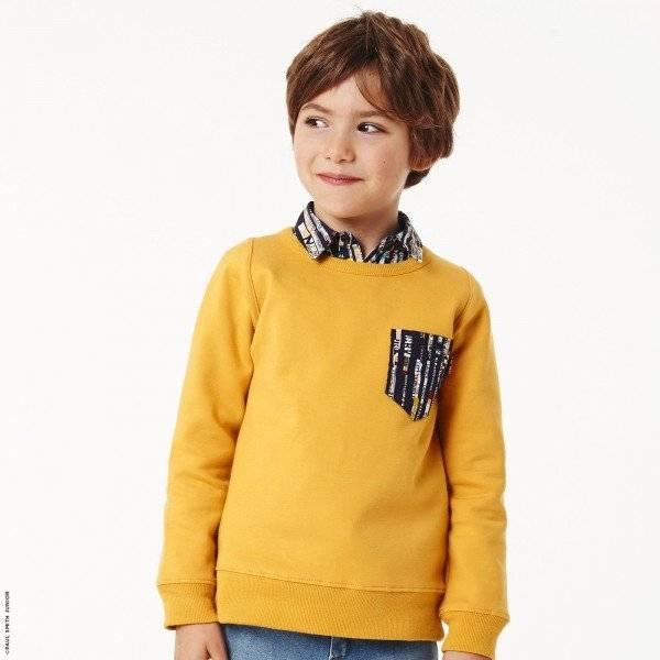 Paul Smith Junior Boys Yellow Sweatshirt with Graphic Shirt