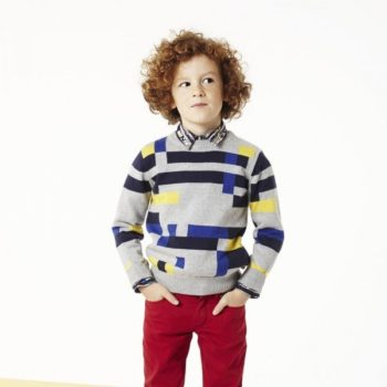 Paul Smith Junior Cotton Cashmere Grey Sweater & Red Pants
